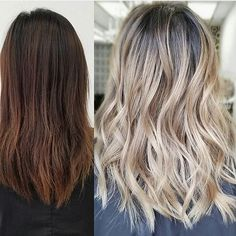 Transformation Tuesday - Get inspired for change! Before and after color by @sammiiwang  #hair #hairenvy #haircolor #beforeandafter #transformationtuesday #highlights #balayage #newandnow #inspiration #maneinterest