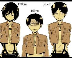 Lol even though Levi is one of the bad boys he's the smallest between these two.