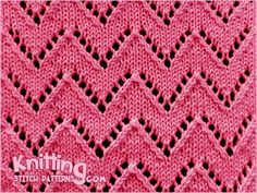 Knitted in a multiple of 10 sts plus lace knitting pattern would be great for shawls, scarves, and sweaters! Lace Knitting Stitches, Lace Knitting Patterns, Arm Knitting, Lace Patterns, Stitch Patterns, Knitting Abbreviations, Feather Stitch, Knit Basket, How To Purl Knit