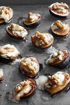 Figs with Walnuts and Gorgonzola: This easy recipe is filled with seasonal autumn ingredients.