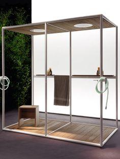 Duchas outdoor. Fácil de instalar, Gazebo se puede colocar sobre cualquier superficie, ¡incluso sobre césped!