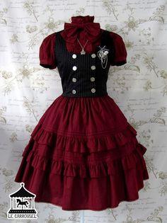 Gothic fashion 342484746655222878 - Lolita gothique Source by janssenpatricia Pretty Outfits, Pretty Dresses, Beautiful Dresses, Cute Outfits, Emo Outfits, Kawaii Fashion, Cute Fashion, Rock Fashion, Old Fashion Dresses
