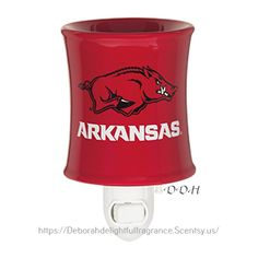 UNIVERSITY OF ARKANSAS MINI WARMER $25.00 DESCRIPTION Big spirit in a smaller size! Feature your team's logo — and your favorite game day fragrance — in even the smallest spaces.