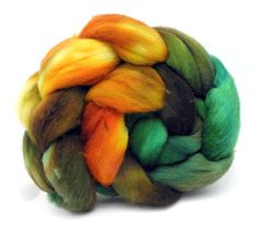 Steampumpkin Roving - Combed Top - Spinning Fiber Dyed to Order