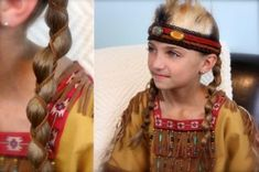 Loony Braid with Leather Accents crazy hairstyles, indian hairstyl, braids, bob hairstyles, girl hairstyles, braided hairstyles, pocahonta, accent braid, leather accent
