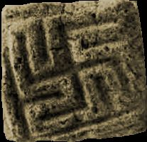 he language and symbolism found on the Harappan seals are very Vedic. We find the Om symbol, the leaf of the Asvatta or holy banyan tree, as well as the swastika, or sign of auspiciousness, mentioned throughout the Vedas.