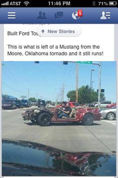 Mustang from Oklahoma tornado