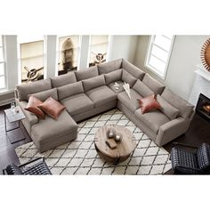 Winston Comfort Sectional with Left-Facing Chaise - Gray Living Room Trends, Living Room Sets, Home Living Room, Living Room Furniture, Living Room Designs, Home Furniture, Living Room Decor, Rustic Furniture, Antique Furniture