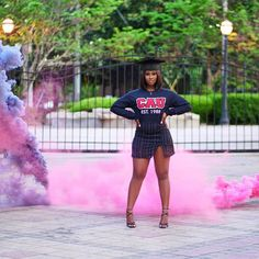 graduation photoshoot Black Girls Graduate on Instagr. Nursing Graduation Pictures, Graduation Look, Graduation Picture Poses, College Graduation Pictures, Graduation Photoshoot, Grad Pics, Senior Picture Outfits, Nursing School Graduation, Grad Pictures