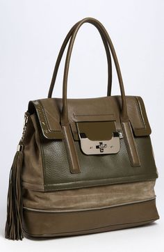 Diane von Furstenberg Harper Laurel Leather Shoulder Bag