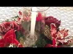 Aprenda a fazer um arranjo de flores para deixar sua ceia de natal linda! - YouTube