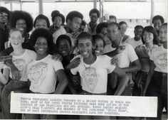 Teenaged members of the Peoples Temple, happily preparing to leave for a new life in Guyana. Jonestown Massacre, Cult Of Personality, Jim Crow, Political Leaders, Step Kids, Play S, Bright Future, Historical Society, Black People