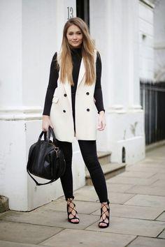 Sleeveless styling...