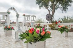 Santorini wedding-wedding ceremony aisle