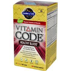 Garden of Life, Vitamin Code, Healthy Blood, 60 Vegan Caps регулирует уровень холестерина, поддерживает нормальную циркуляцию крови и как бонус влияет на кожу, как должен бы влиять коллаген внутрь