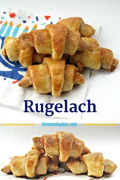 Rugelach, are rolled up cream cheese dough with a variety of delicious filling options! These beauties disappear quickly from Chanukah or Christmas platters! | themondaybox.com