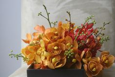 simple & vibrant orchids