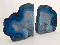 Extra Large Blue and Quartz Layered Agate by NaturalArtWorld