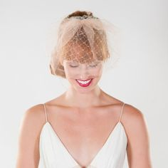 Southern Vintage Inspired Double Layer Bridal by prestonandolivia, $100.00
