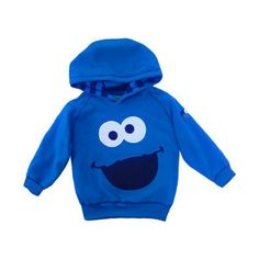 d44f9b4a9 Amazon.com: Sesame Street Cookie Monster Polar Fleece Hoodie -... ($19) ❤  liked on Polyvore featuring tops, baby boy and baby