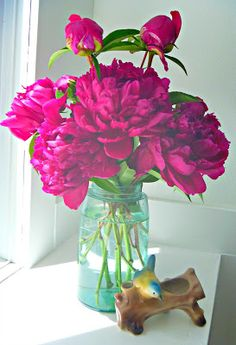 Blue Mason Jars are perfect for roses in the winter time. Get some on jar lifter, furniture lifter, bag lifter, window lifter, stand lifter,