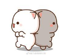 Cute Love Pictures, Cute Cartoon Pictures, Cute Images, Anime Cat, Anime Chibi, Kawaii Cat, Kawaii Anime, Cute Cat Gif, Cute Cats