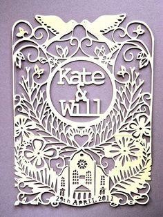Personalised intricate paper cut wedding by LovehandmadebyKelly, £0.80