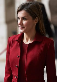 Queen Letizia attends a Working visit to the presentation of the improvements made in the Royal Palace of Madrid for the removal of architectural barriers on February 10, 2016 in Madrid, Spain.