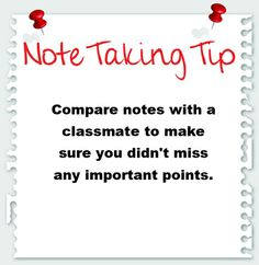 Note Taking Tip: Keep notes for each subject in one place so you can find everything easily when it comes time for a test. Teaching Study Skills, Note Taking Tips, Grammatically Correct, Test Preparation, Basic Math, School Hacks, Study Tips, Texts, Notes