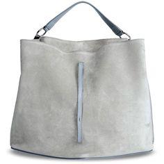 Maison Margiela 11 Shoulder Bag ($1,280) ❤ liked on Polyvore featuring bags, handbags, shoulder bags, сумки, grey, gray handbags, gray purse, grey handbags, shoulder hand bags and grey purse