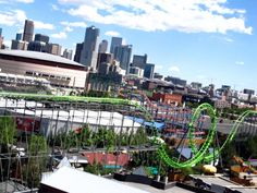 Elitch Gardens, Denver Colorado. 1 amazing theme park :) not as good as some others i'm sure but still alot of fun to visit!
