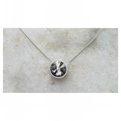 Edição especial:  cristal swarovski efeito pátina  #swarovski #design #prata #acessorios #pingente