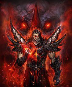 World of Warcraft Fan Art. Deathwing (human form).