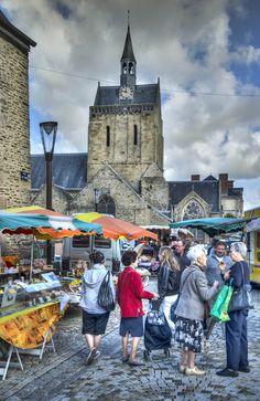 Pontorson Market, Brittany, France