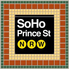 New York Subway Soho print by Art Lahr