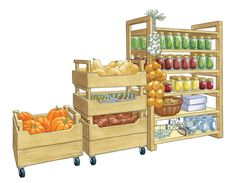 DIY Produce Storage Bins: Turn your pantry or basement into a portable storehouse with fresh crops stashed in these stackable produce storage bins. The plans offer two versions of DIY storage bins: tall and short. From MOTHER EARTH NEWS magazine. Pantry Storage Containers, Produce Storage, Storage Bins, Food Storage, Diy Vegetable Storage Bin, Vegetable Crates, Woodworking Furniture, Woodworking Crafts, Diy Furniture