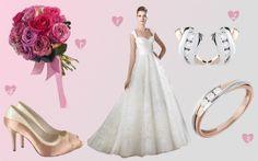 Vestido de San Patrick 2014 - http://www.bodas.net/articulos/look-de-novia-con-detalles-rosas--c2309