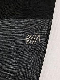 French Stockings - detail - 1900-15 - Silk - Monogram: 'Rita' - Made for Rita de Acosta Lydig - The Metropolitan Museum of Art - @~ Mle