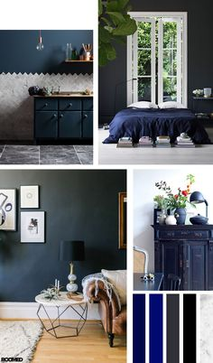 Colorboost: a chic interior with grey and navy - Roomed