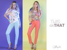 Dois looks irresistíveis com jeans color! São certeiros de sucesso e combinam com muitas outras peças! Apostem, meninas!