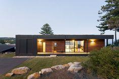 Avalon A Modern Prefab Beach House With Green Roof by ArchiBlox
