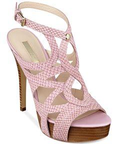 GUESS Kaesy Platform Sandals - Shoes - Macy's