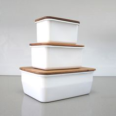 Enamel Storage Containers By Chabatree
