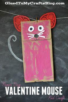 Paper Bag Valentine Mouse {Kid Craft}