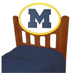 University of Michigan Wolverines Kids Wooden Twin Headboard With Logo