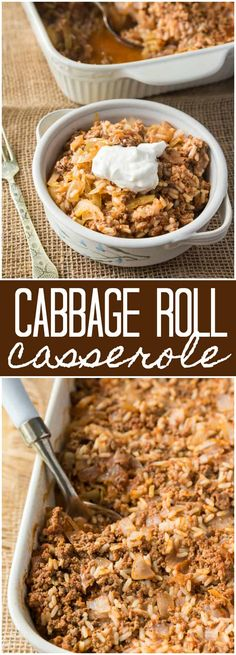 Cabbage Roll Casserole - Enjoy the simple flavours of cabbage rolls without all the fuss!