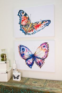 Butterfly Watercolor Canvas Art from Earthbound Trading Co.                                                                                                                                                                                 More
