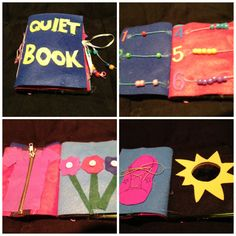 Mini no sew quiet book made from affordable supplies
