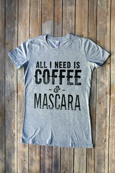 Coffee & Mascara Womens T-shirts