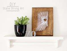 DIY State String Art...adding interest to any nook in your home or as a gift for friend or loved one.